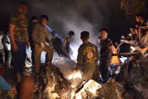 Máy bay quân sự Thái Lan rơi, 9 người thiệt mạng - anh 1