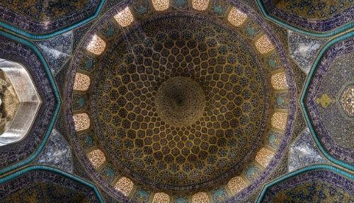 Tuyệt phẩm đẹp ngỡ ngàng bên trong nhà thờ Hồi giáo trên thế giới - anh 13