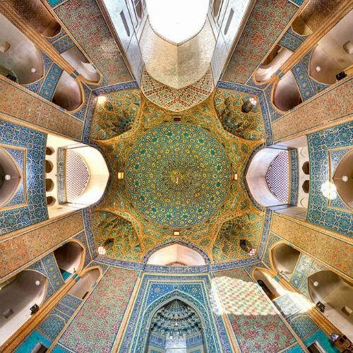 Tuyệt phẩm đẹp ngỡ ngàng bên trong nhà thờ Hồi giáo trên thế giới - anh 4