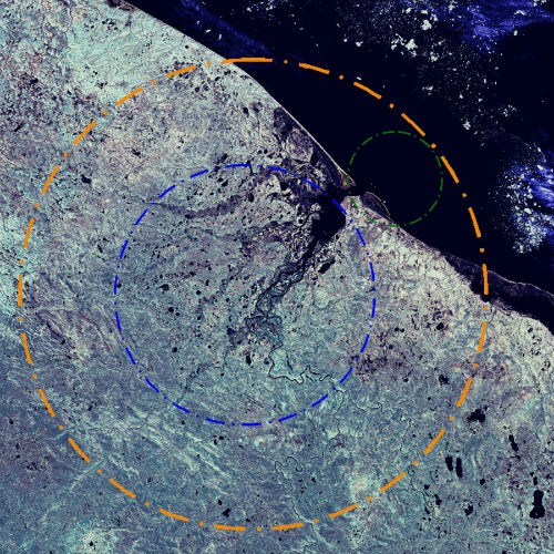 10 hố thiên thạch 'đại khổng lồ' trên Trái đất - anh 10