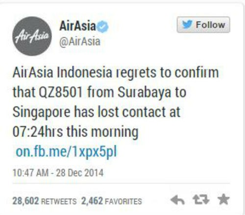 Chùm ảnh: Toàn cảnh vụ máy bay AirAsia QZ8501 mất tích - anh 11
