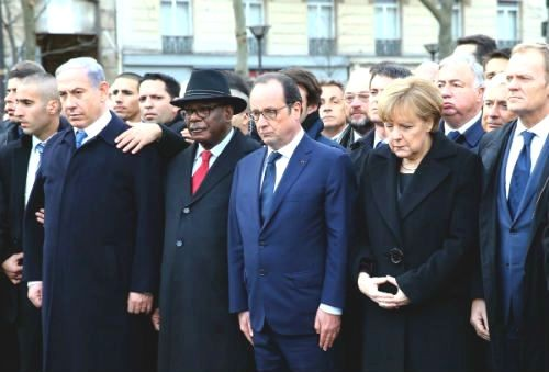 44 nhà lãnh đạo cấp cao về Paris tưởng niệm nạn nhân vụ xả súng tại Pháp - anh 1