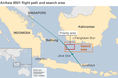 Tin mới nhất về máy bay AirAsia QZ8501: Tổng 69 thi thể được tìm thấy; Nỗ lực trục vớt thân máy bay 2 lần thất bại - anh 2