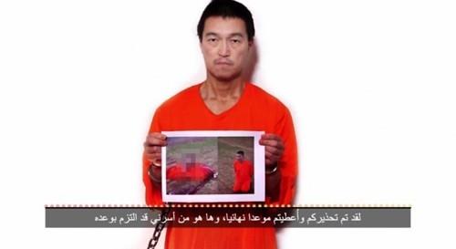 IS tung video chặt đầu 1 con tin Nhật; Ra thêm điều kiện thứ 2 - anh 1