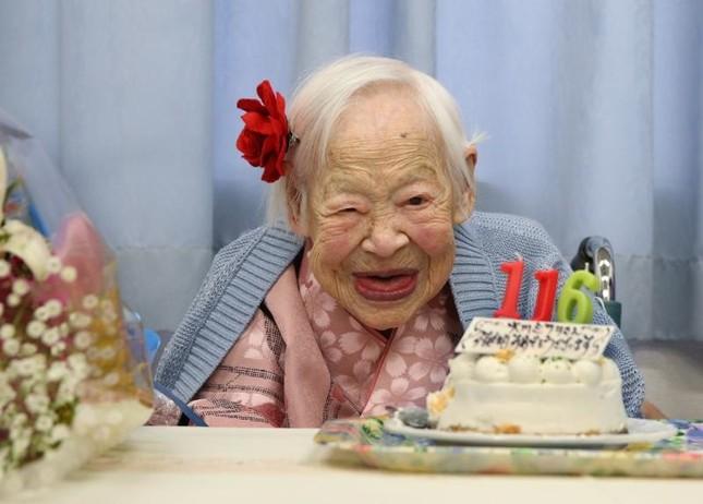 Cụ bà Misao Okawa sống thọ nhất thế giới qua đời ở tuổi 117 - anh 1