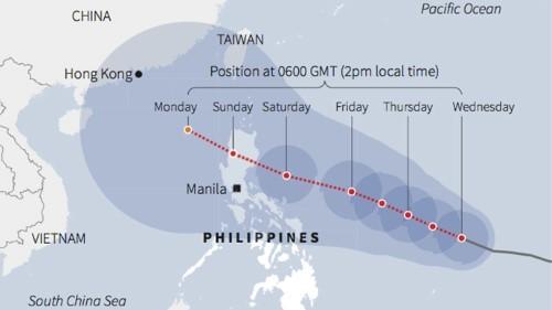 Hình ảnh siêu bão Maysak sắp đổ bộ vào Philippines nhìn từ vũ trụ - anh 2