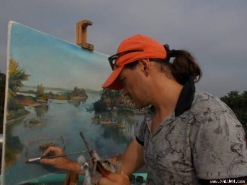 Làng quê Việt Nam đẹp dung dị trong tranh của Họa sĩ Nga - anh 1