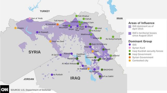 Phiến quân IS mất kiểm soát 1/3 lãnh thổ Iraq - anh 1