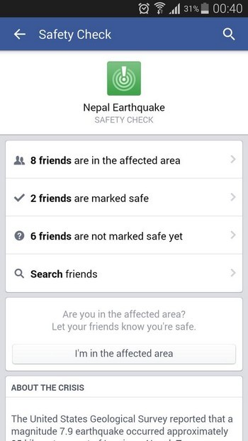 Google, Facebook bắt tay cứu giúp nạn nhân vụ động đất kinh hoàng ở Nepal - anh 3