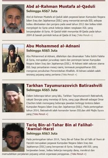 Mỹ: Treo thưởng 20 triệu USD để tiêu diệt 4 thủ lĩnh IS - anh 1