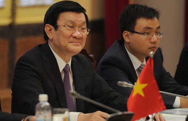 Chủ tịch nước Trương Tấn Sang đến Nga dự Lễ kỷ niệm 70 năm chiến thắng phát xít - anh 2