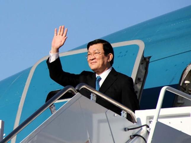 Chủ tịch nước Trương Tấn Sang đến Nga dự Lễ kỷ niệm 70 năm chiến thắng phát xít - anh 1