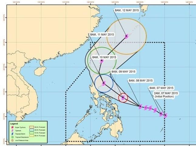 Siêu bão Noul giật 220km/h đổ bộ Philippines, 3.500 người phải sơ tán - anh 1