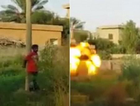 Tội ác ghê tởm của IS: Phóng hỏa tiễn giết người chống đối - anh 2