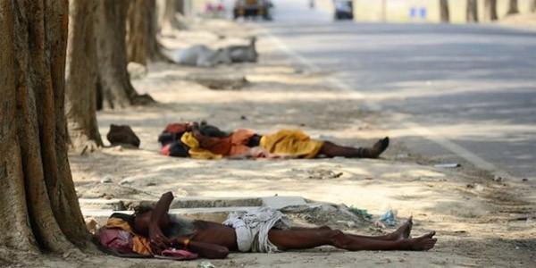 Chùm ảnh nắng nóng 48 độ khiến 750 người Ấn Độ tử vong - anh 1