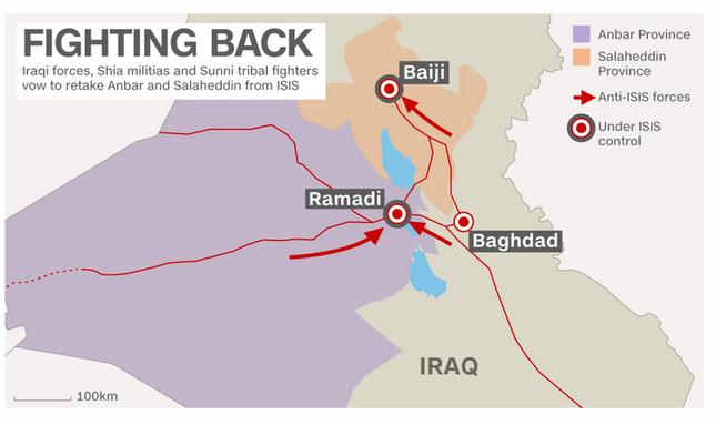 Iraq tổng tấn công IS, tái chiếm cùng lúc Ramadi và Baiji - anh 1