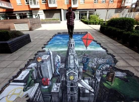Ngắm những tuyệt phẩm 3D đánh lừa thị giác trên đường phố - anh 6