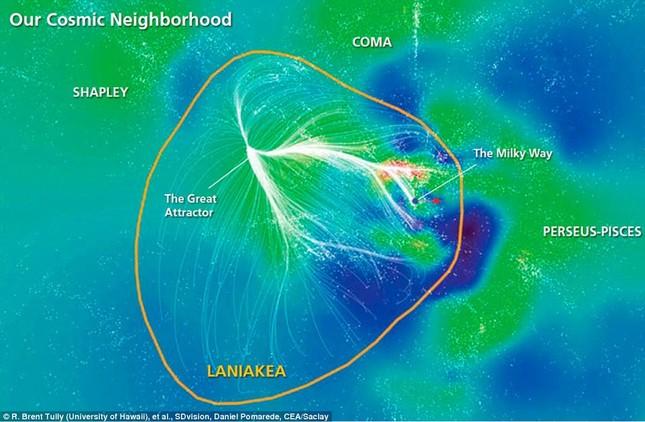 Bản đồ Vũ trụ: Trái đất đứng ở đâu trong vũ trụ rộng lớn? - anh 1