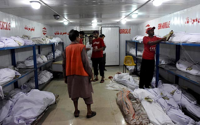 Hàng trăm người chết la liệt vì nắng nóng 45 độ tại Pakistan - anh 1