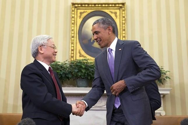 Toàn cảnh cuộc gặp ấn tượng của Tổng Bí thư Nguyễn Phú Trọng và Tổng thống Obama tại Nhà Trắng - anh 1