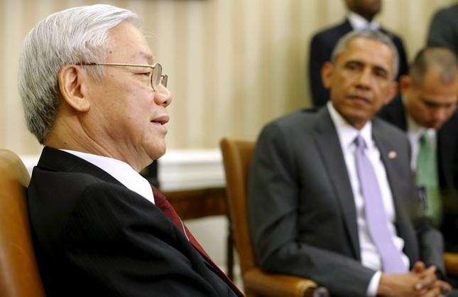 Toàn cảnh cuộc gặp ấn tượng của Tổng Bí thư Nguyễn Phú Trọng và Tổng thống Obama tại Nhà Trắng - anh 5