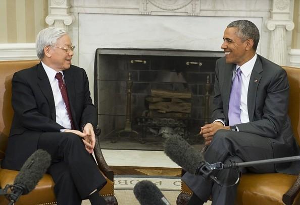 Toàn cảnh cuộc gặp ấn tượng của Tổng Bí thư Nguyễn Phú Trọng và Tổng thống Obama tại Nhà Trắng - anh 6