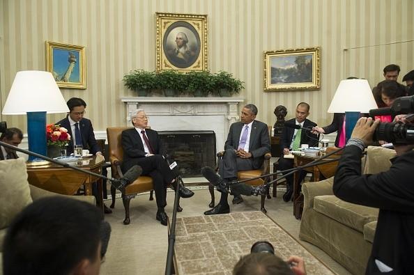 Toàn cảnh cuộc gặp ấn tượng của Tổng Bí thư Nguyễn Phú Trọng và Tổng thống Obama tại Nhà Trắng - anh 3