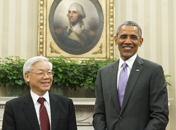 Toàn cảnh cuộc gặp ấn tượng của Tổng Bí thư Nguyễn Phú Trọng và Tổng thống Obama tại Nhà Trắng - anh 2