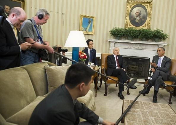 Toàn cảnh cuộc gặp ấn tượng của Tổng Bí thư Nguyễn Phú Trọng và Tổng thống Obama tại Nhà Trắng - anh 7