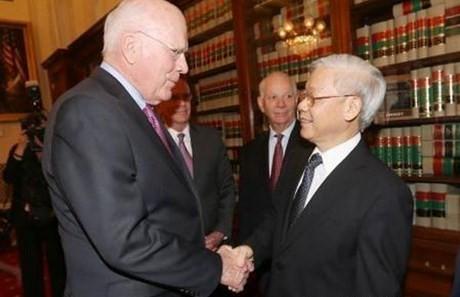 [Toàn cảnh] Ngày làm việc thứ 3 của Tổng Bí thư Nguyễn Phú Trọng tại Mỹ - anh 1