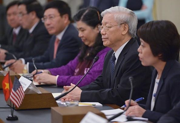[Toàn cảnh] Ngày làm việc thứ 3 của Tổng Bí thư Nguyễn Phú Trọng tại Mỹ - anh 2