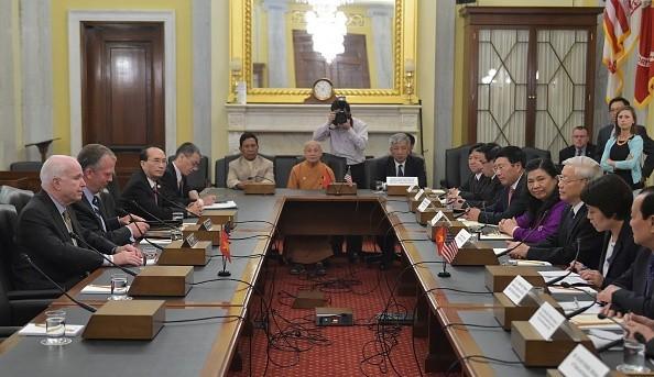 [Toàn cảnh] Ngày làm việc thứ 3 của Tổng Bí thư Nguyễn Phú Trọng tại Mỹ - anh 5