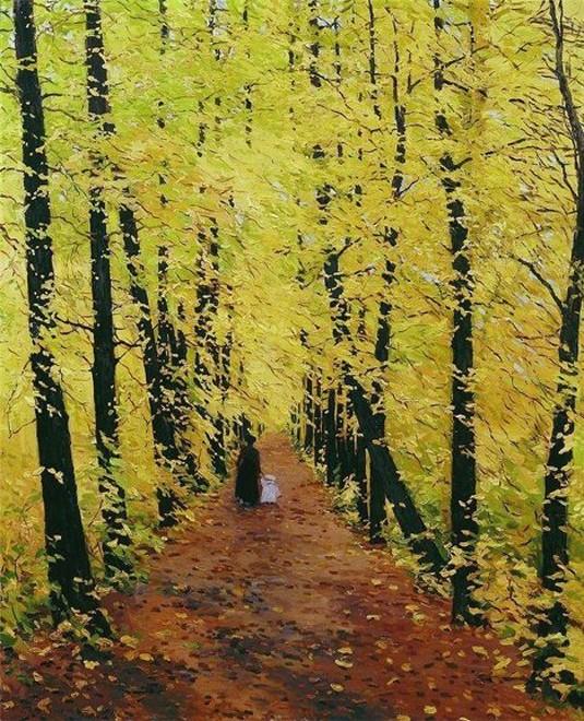 Những tác phẩm hội họa tuyệt đẹp về mùa Thu - anh 5
