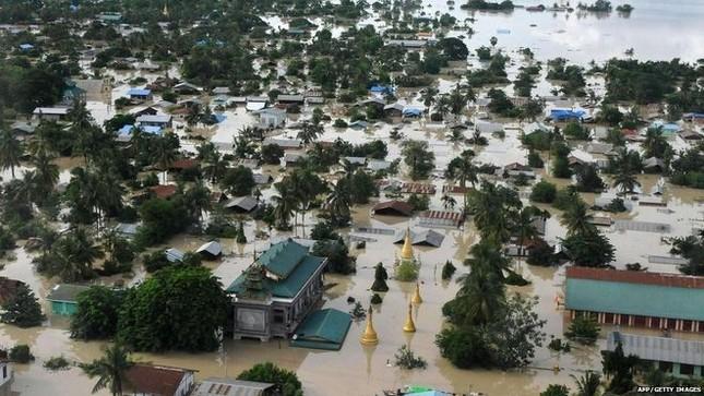 Lũ lụt hoành hành châu Á - anh 1