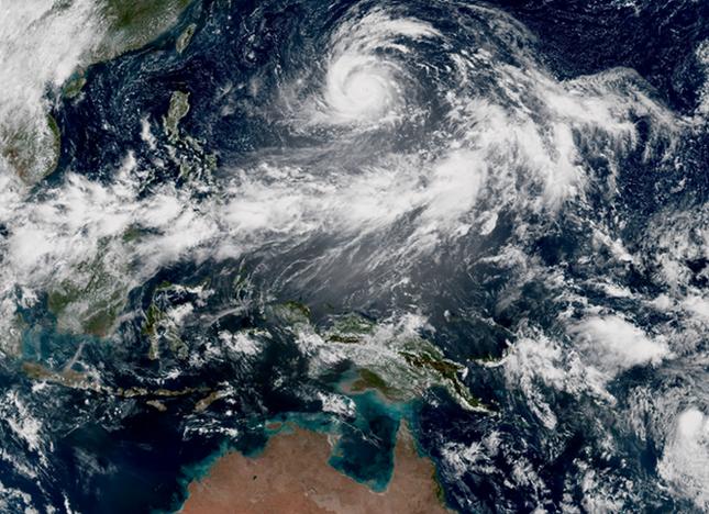 Siêu bão mạnh nhất năm 2015 đang tiến về Đông Á - anh 2