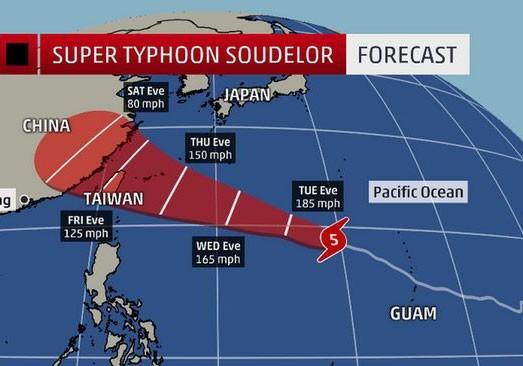 Siêu bão mạnh nhất năm 2015 đang tiến về Đông Á - anh 3
