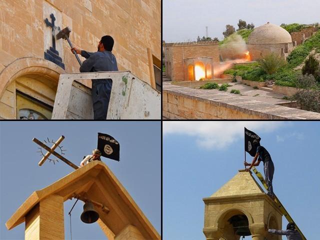 Khủng bố IS phá hủy tu viện Syria, bắt giữ 200 con tin - anh 1