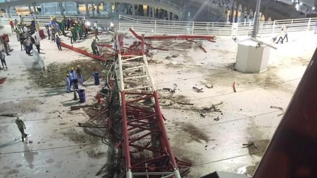 Hiện trường sập cẩn cầu kinh hoàng ở thánh địa Mecca, hơn 300 người thương vong - anh 4