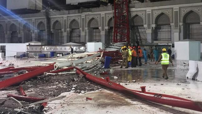 Hiện trường sập cẩn cầu kinh hoàng ở thánh địa Mecca, hơn 300 người thương vong - anh 5