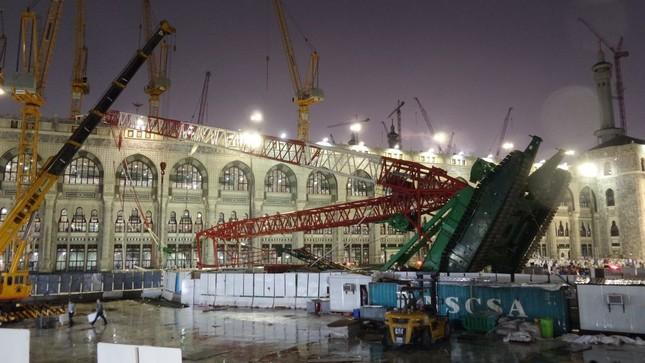 Hiện trường sập cẩn cầu kinh hoàng ở thánh địa Mecca, hơn 300 người thương vong - anh 6