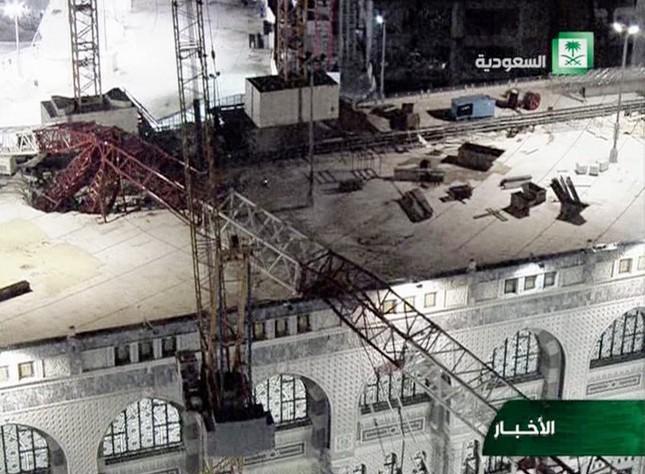 Hiện trường sập cẩn cầu kinh hoàng ở thánh địa Mecca, hơn 300 người thương vong - anh 9