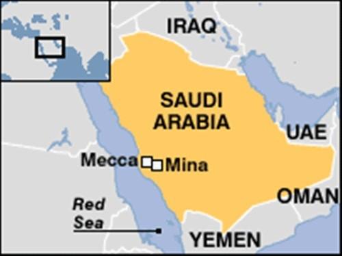 Giẫm đạp gần Thánh địa Mecca, gần 800 người thương vong - anh 1