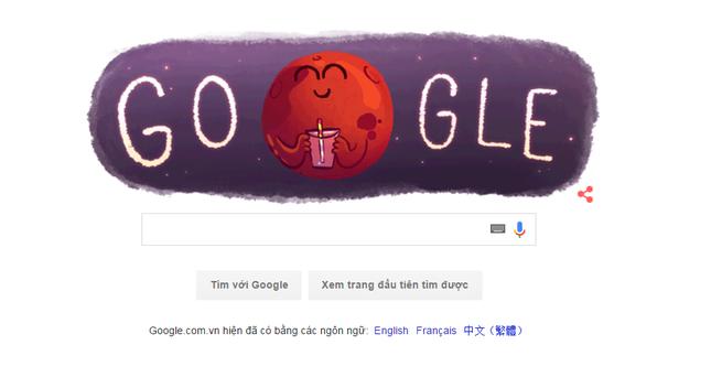 Google thay logo kỉ niệm ngày tìm thấy nước dạng lỏng trên sao Hỏa - anh 2