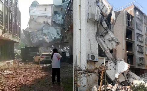 Hiện trường nát vụn sau vụ nổ bom liên hoàn ở Trung Quốc - anh 2