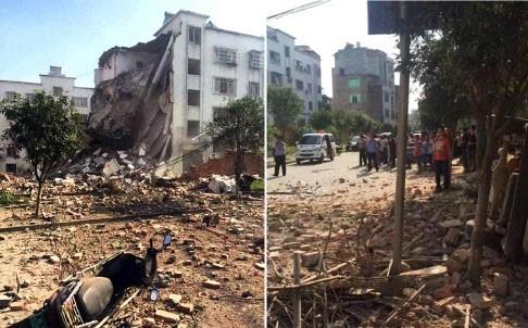 Hiện trường nát vụn sau vụ nổ bom liên hoàn ở Trung Quốc - anh 3