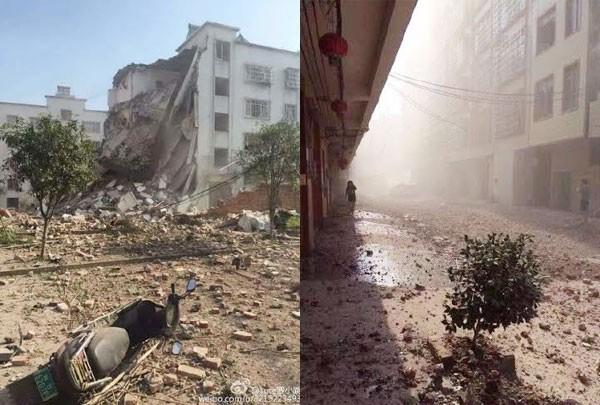 Hiện trường nát vụn sau vụ nổ bom liên hoàn ở Trung Quốc - anh 8