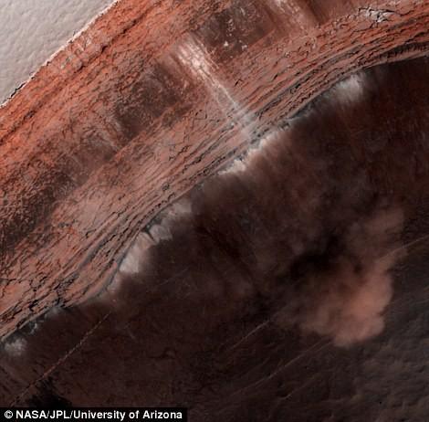 Phát hiện: Vụ sạt lở mới nhất trên sao Hỏa - anh 2