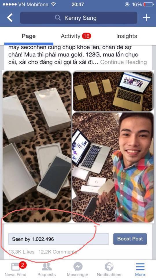 Kenny Sang tặng 16 iPhone Gold 128G cho ê - kíp - anh 1
