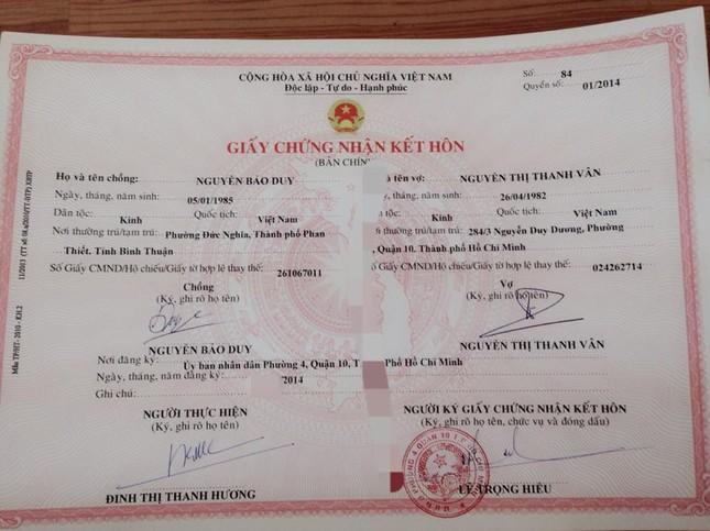 Phi Thanh Vân khoe đăng kí kết hôn với chồng Bảo Duy - anh 1