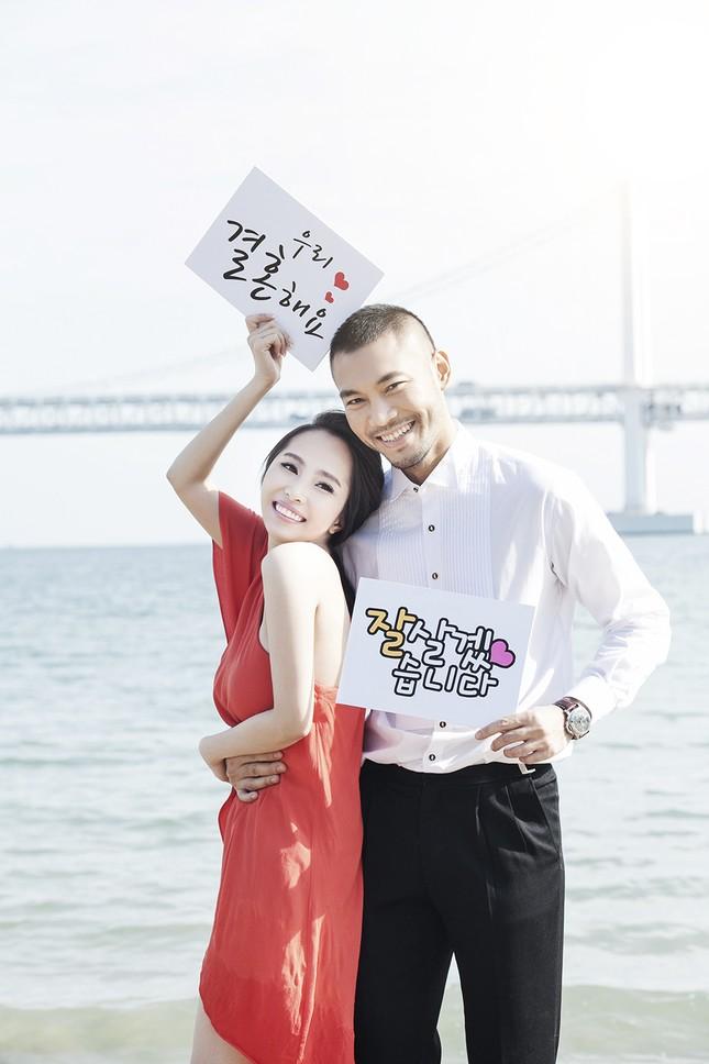 Ảnh cưới Quỳnh Nga - Doãn Tuấn chụp ở Hàn Quốc gây sốt - anh 2